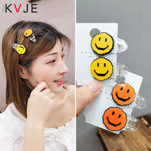 KVJE Cartoon Expression Girls Hair Clips for Women Barrettes HOT SALE Fashion Resin Accessories