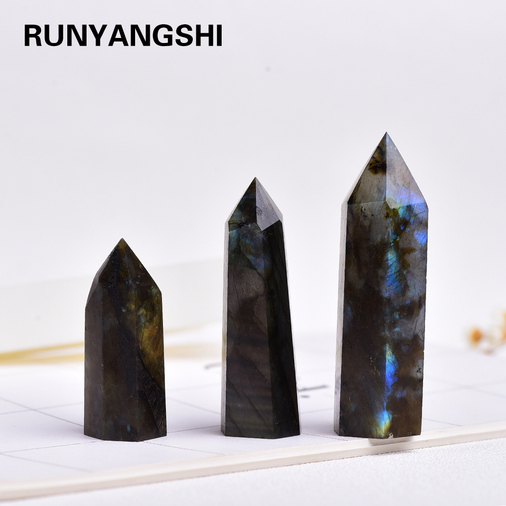 4-7 см, 1 шт., блестящий красочный натуральный лунный камень, камень лабрадорит, кристальная палочка, декоративный камень