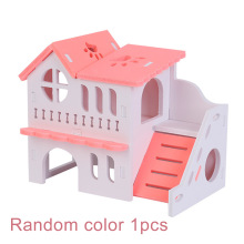 Sleeping-House Cage Hamster Nest Hut Wooden Hideout Small Animal-Supplies Home Toy DIY
