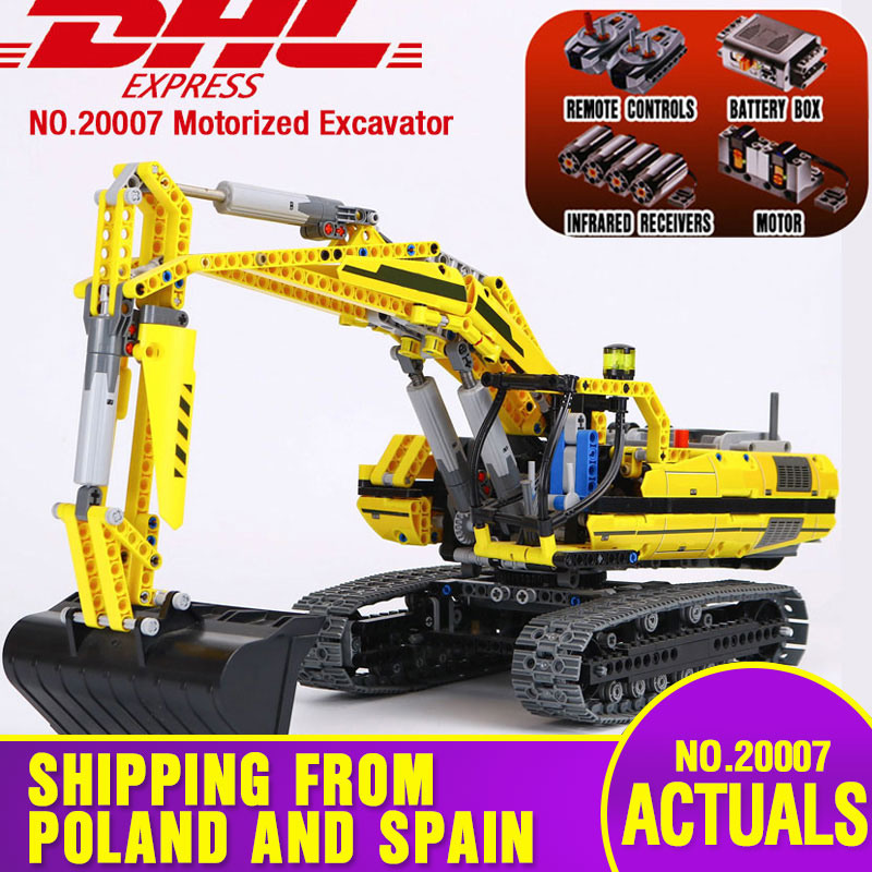 20007 Technic Car Toys Compatible With Lepining 8043 Motorized Excavator Toys Model Building Blocks Bricks Kids Christmas Gifts