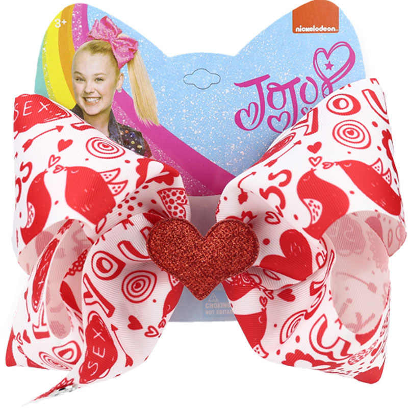 Girl 6 Inch Hair Bow Red /& Black Valentine/'s Day Left Handed Clip