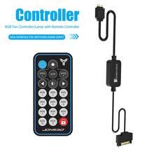 Jonsbo sata fonte de alimentação 5v 3pin aura rgb argb controlador luz memória tarja controle remoto para computador caso do pc led tarja fã