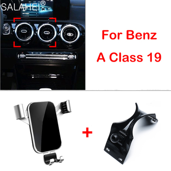 Car Phone Holder For Mercedes-Benz 2019 A Class W177 Air Vent Mount Bracket Car Phone Holder And For Benz A Class 2019 A180 A200 image