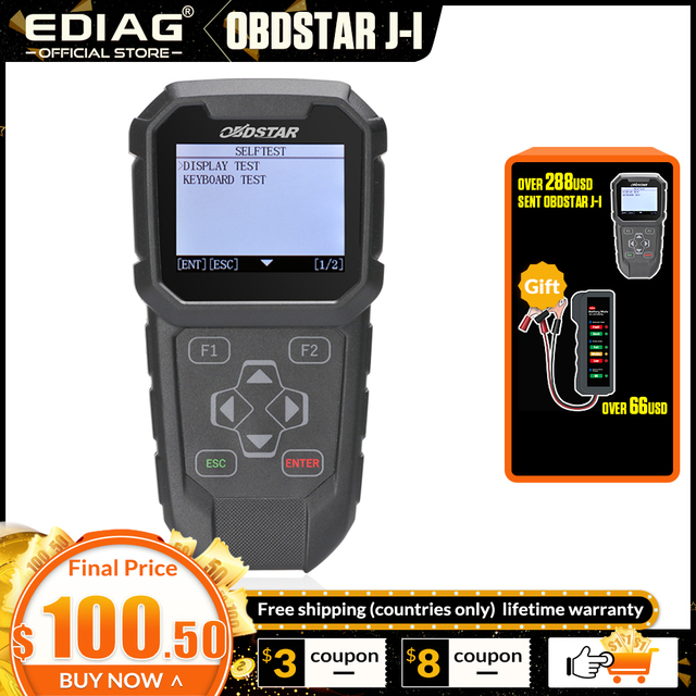 Orijinal OBDSTAR J I anahtar programlama ve kilometre ayar ARACı Özel tasarım Japon Araçlar için OBDPROG MT401