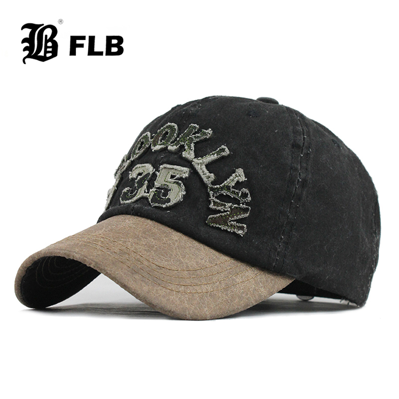 [FLB] New Washed Cotton Baseball Cap 2020 Snapback Hat For Men Women Dad Hat Embroidery Casual Cap Casquette Hip Hop Cap F608