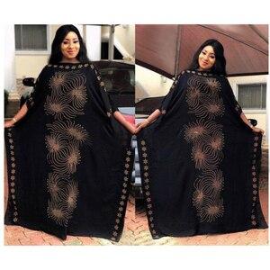 Image 2 - طول الفستان: 135 سنتيمتر الصدر: 160 فساتين الموضة الجديدة بازين طباعة Dashiki المرأة طويلة/نمت Yomadou اللون نمط المتضخم
