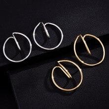 1 Pair Women Comfortably Hooping Ear Cuff Earrings Classical No Piercing Needed Clip on Earrings Women Free Shipping