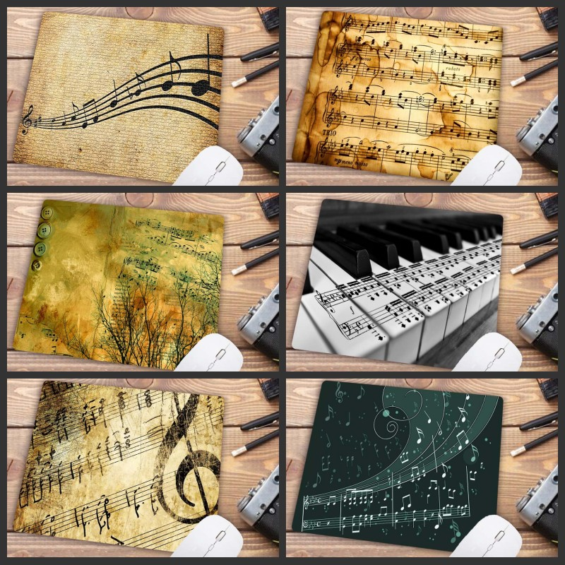 Mairuig Musical Note DIY Art Mouse Pad Game Player Game Keyboard Pad Computer Tablet Pad Size 22 X 18 Mm