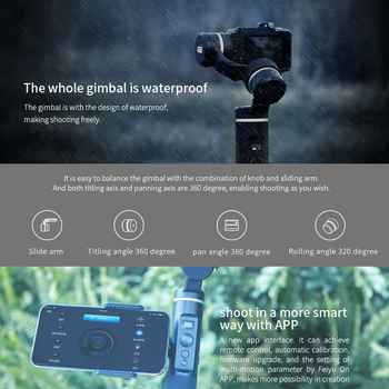 Feiyu G6 Action camera Handheld Gimbal bluetooth Update Version for Gopro Hero 6/5 RX0 Xiao Yi PK smooth Q smooth 4 Vimble 2