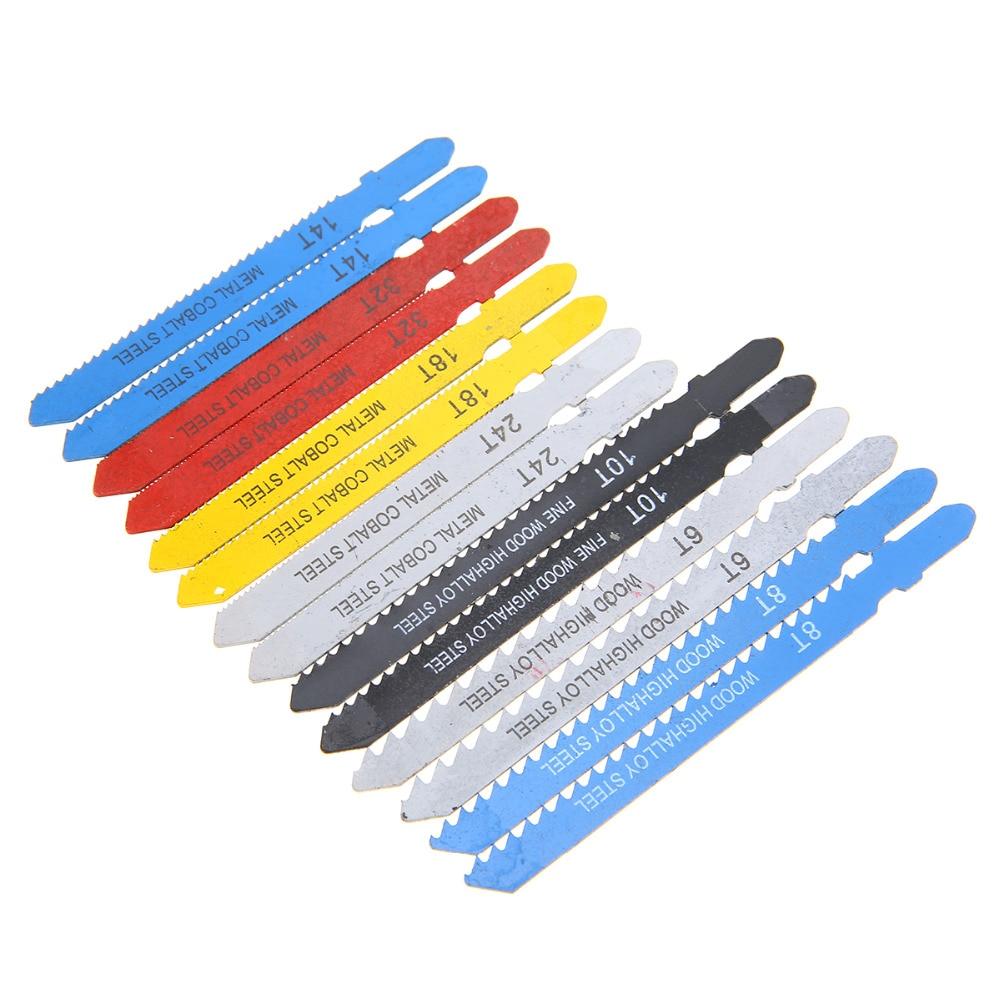 14pcs Assorted T-shank Jigsaw Blades High Quality Metal Steel Jigsaw Blades Set For Cutting Plastic Wood