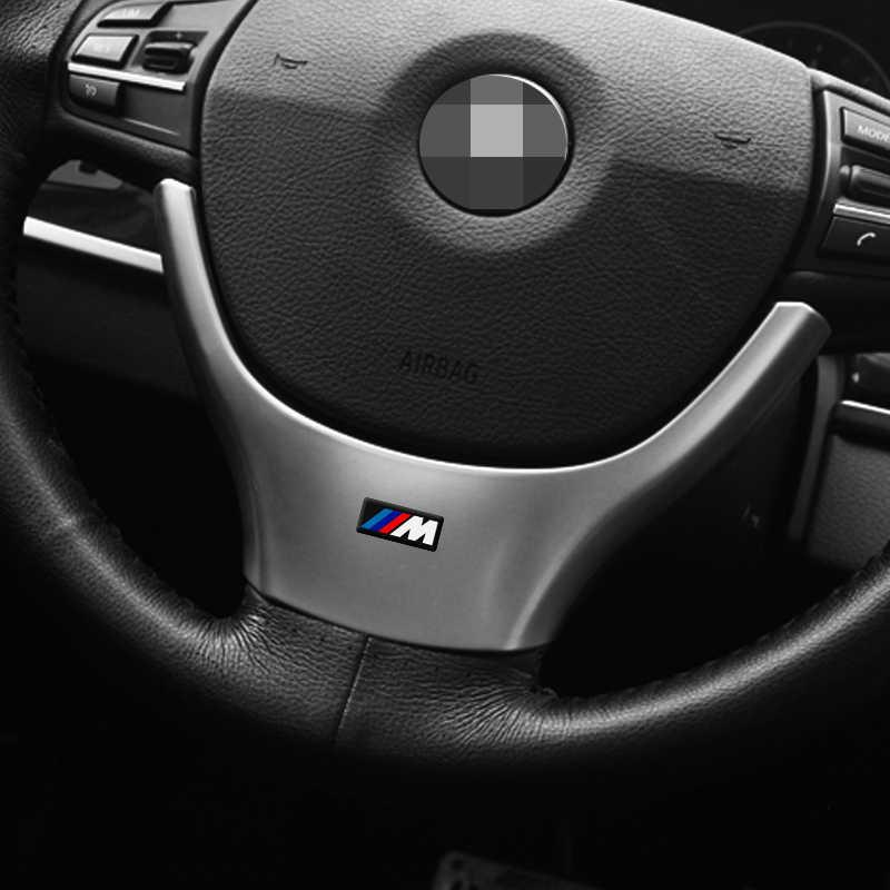 1 шт. рулевого колеса автомобиля Стикеры Автомобильная наклейка для внутреннего интерьера для bmw M Стикеры X1 X3 X4 X5 X6 X7 e46 e90 f20 e60 e39 f10 автомобильные аксессуары