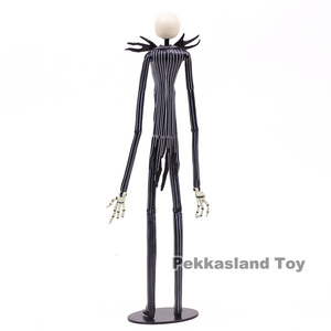 Image 4 - The Nightmare Before Christmas Deluxe Jack Skellington with Interchangeable Heads Action Figure Collectible Model Toy Gift 35cm