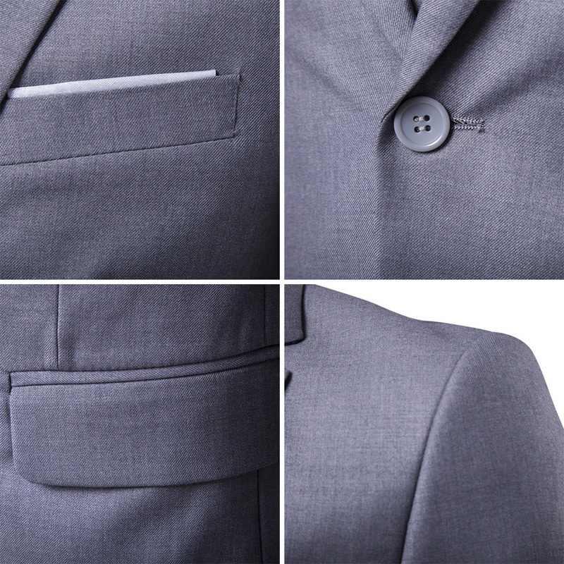 Jodimitty 2020 男性スーツブレザースリムビジネスフォーマルドレスチョッキ新郎の男スーツ絶妙な除草セット薄型ブレザー