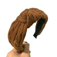 Новинка Модный мягкий ободок широкая боковая повязка на голову