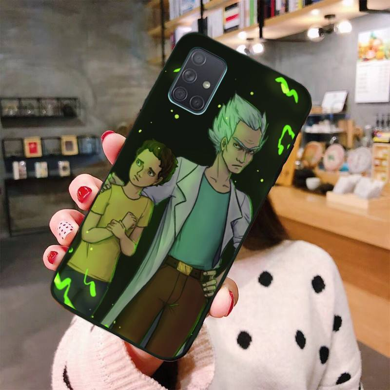Adult Rick And Morty DIY Luxury Phone Case For Samsung A10 A20 A30 A40 A50 A70 A80 A71 A91 A51 A6 A8 2018