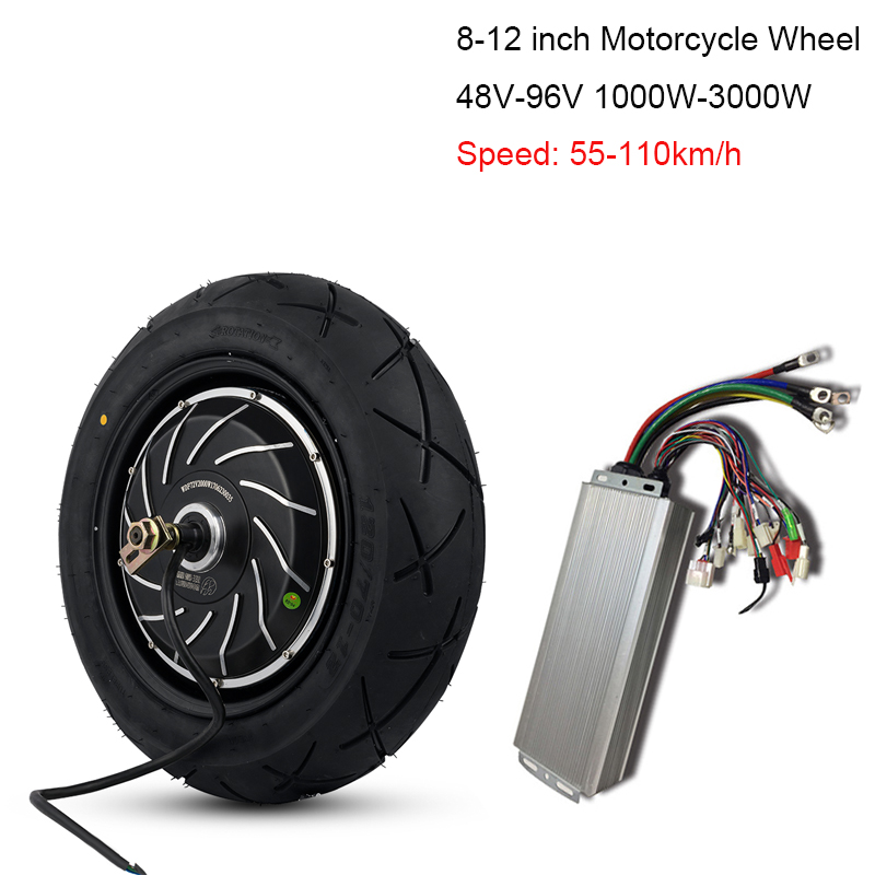 <font><b>1500W</b></font>/2000W/3000W Electric Motorcycle Conversion Kit 1000W 12 Inch Wheel Hub <font><b>Motor</b></font> Wheel For Bicycle 48V/<font><b>60V</b></font>/72V Electric Bike image