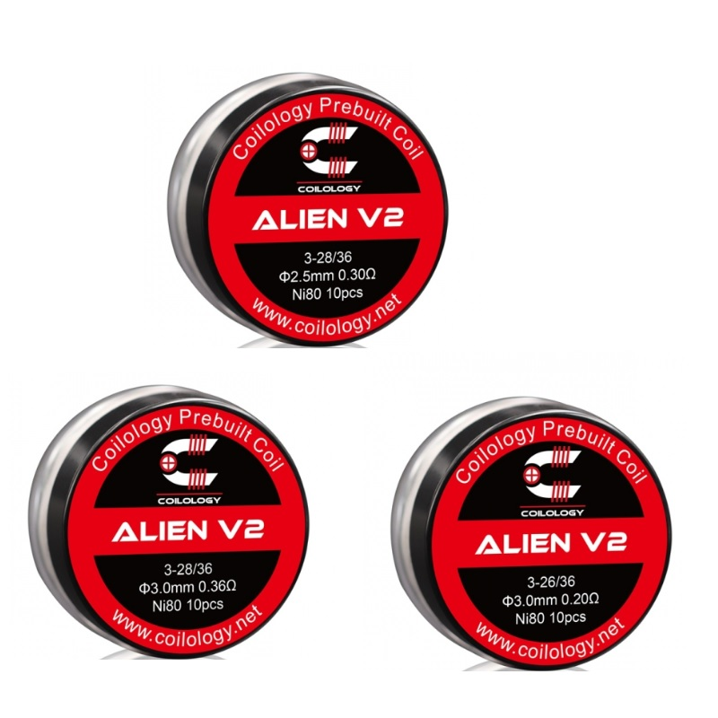 Coilology Alien Version 2 Ni80 Coil 0.2ohm/0.3ohm/0.36ohm   Resistance For RDA RTA Vape Accessory