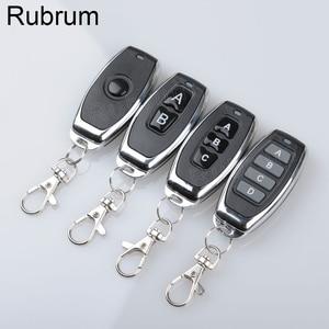 Image 5 - Rubrum 433 Mhz Universal Wireless Fernbedienung 1527 Lernen Code Sender Für Tor Garage Tür Licht Controller 2 Tasten