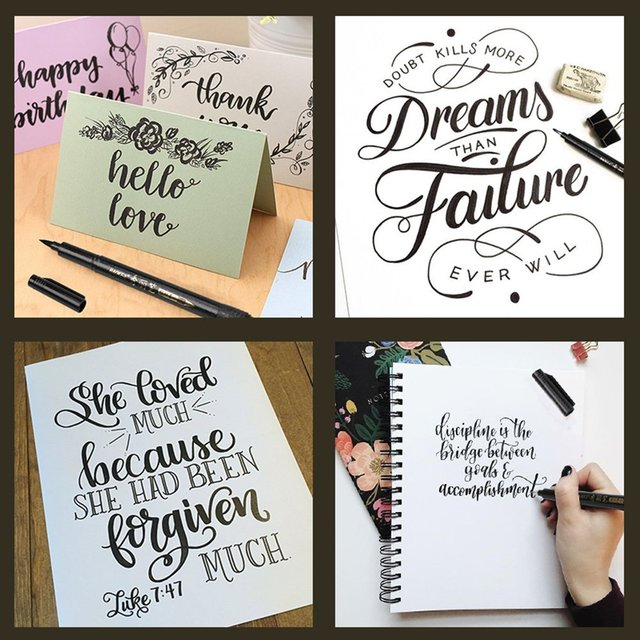 4 Pcs/lot Chinese Japanese Calligraphy Brush Pen Art Craft Supplies Office School Writing Tools 4