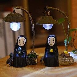 Faceless Men's Night Light Creative Home Decoration Miyazaki Card Face Man Guard Night Light