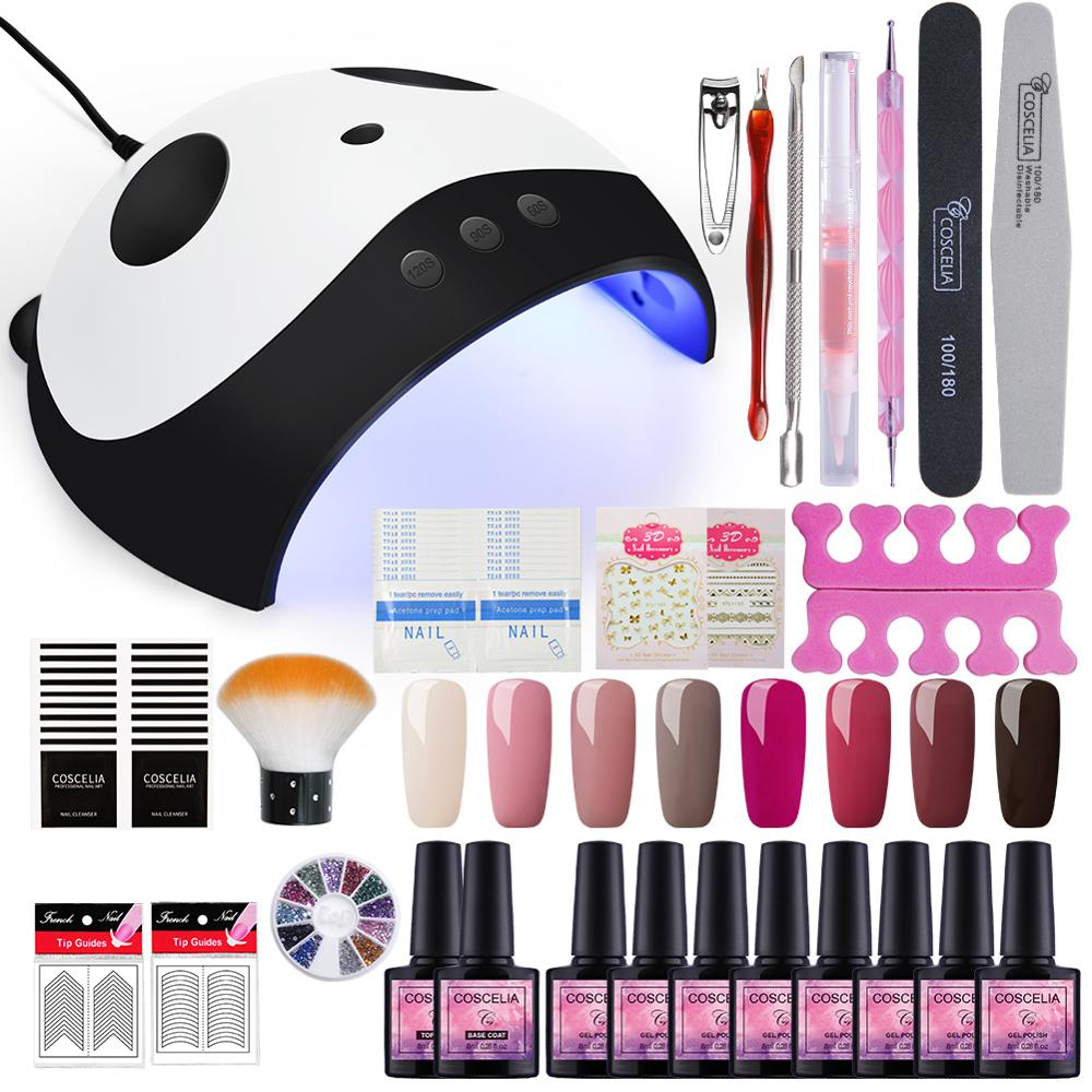 Manicure Set With 36W UV LED Lamp Dryer Full 40 Colors Nail Set Tools For Manicure Gel Nail Polish Set All For Manicure