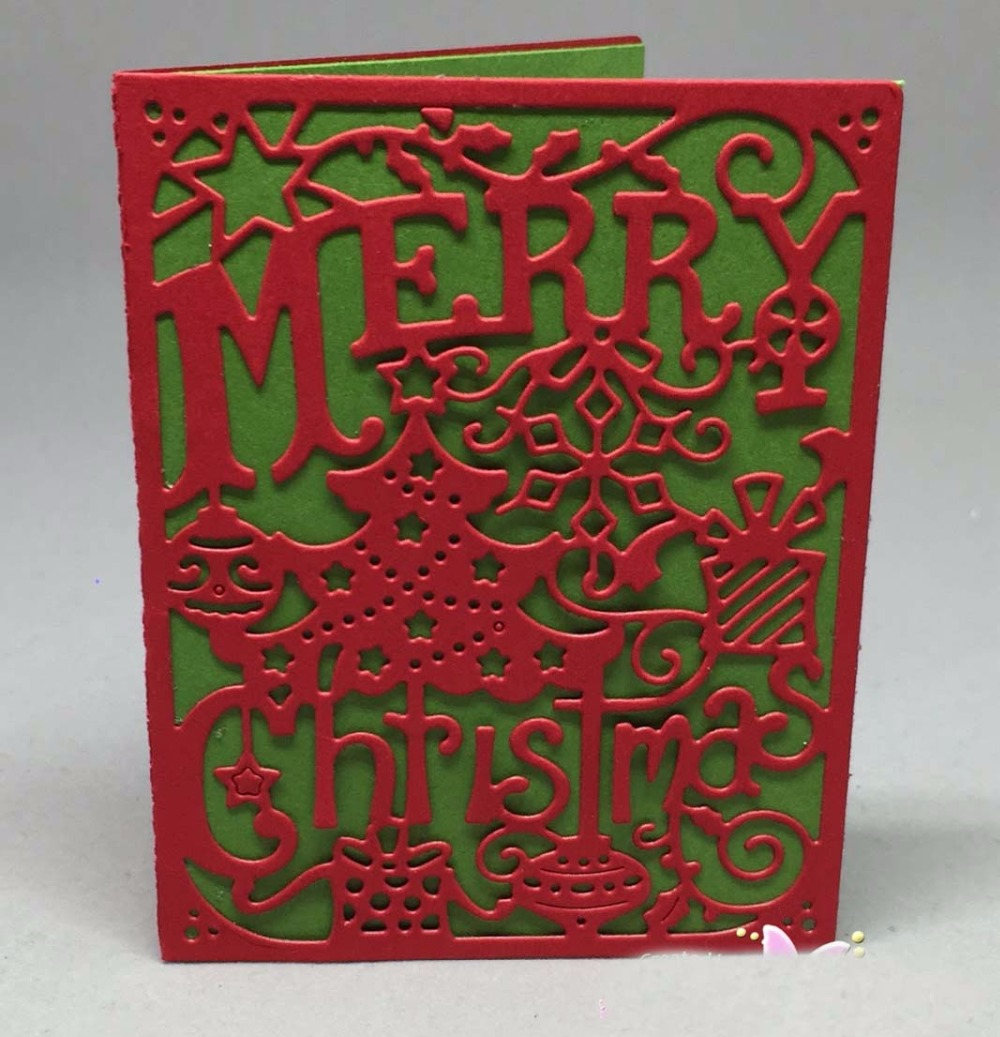 <font><b>Merry</b></font> <font><b>Christmas</b></font> Metal <font><b>Cutting</b></font> <font><b>Dies</b></font> For DIY Scrapbooking Embossing Paper Cards Making Decorative Craft Supplies New 2018 image