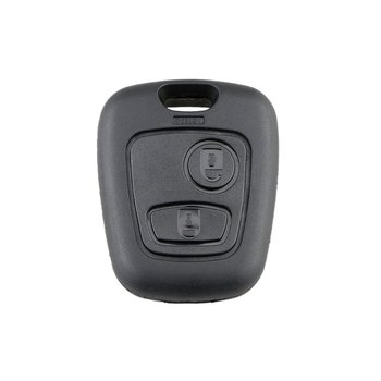 2 Buttons Replacement Remote Blank Car Key Shell Fob Case For Peugeot 206 307 107 207 407 No Blade Auto Key Case image