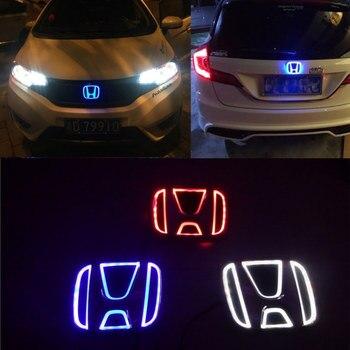 Insignia con emblema para coche 5D, luz con Logo para Honda Accord Civic Fit Odyssey Pilot CRV XRV Stream Lnsight City, insignia con Logo