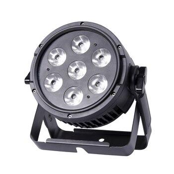 Freies verschiffen 7*10W 4in1 wasserdichte LED par licht bühne effekt beleuchtung für dj disco dmx RGBW waschen flut lampe