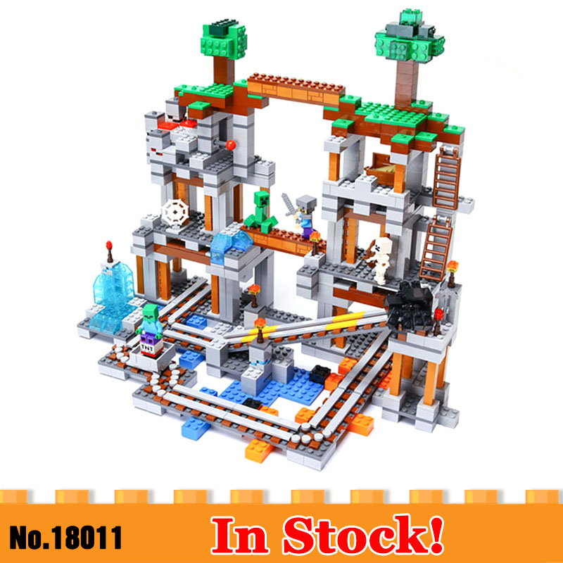 DHL 18011 My World Series My Villiage Compatible With 79074 The Mine Set Assembly Kids Christmas Gifts Building Blocks Bricks