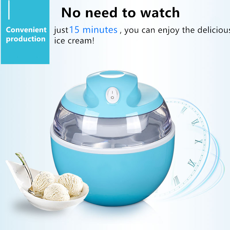 Ice Cream Machine Portable Yogurt Machine Dual Use Easy To Operate Home 220V High Quality Automatic Ice Cream Maker Drop Ship