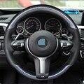 Углеродное волокно кожа черный кожаный чехол рулевого колеса автомобиля для BMW F87 M2 F80 M3 F82 M4 M5 F12 F13 M6 X5 м F86 X6 м F33