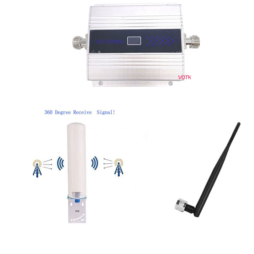 Cell Phone GSM 1800 Signal Booster 4G LTD Signal Repeater Celluar Signal Amplifier 4G With 360 Degree Omni Outdoor Antenna