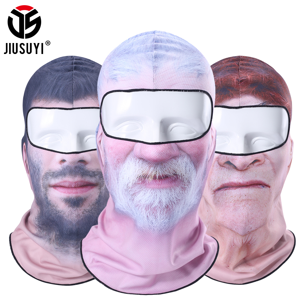 New Clown Beard Old Man Pattern Balaclava Snowboard Biker Breathable Neck Warmer Hats Helmet Liner Full Face Mask   Beanies   Cap