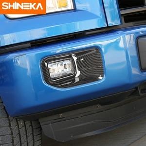 Image 1 - SHINEKA סיבי פחמן אביזרי עבור פורד F150 2015 + רכב קדמי ערפילי אור משמר דקור כיסוי מדבקות עבור פורד F150 2015 2020