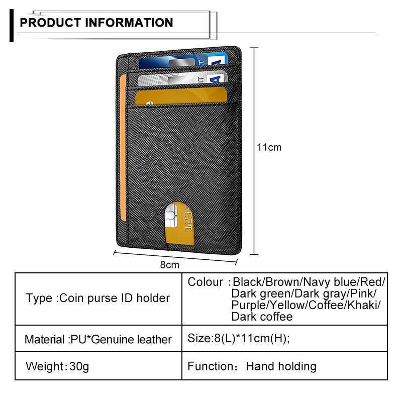 レトロ男性財布盗難防止ブラシ RFID コイン財布牛革革オープン薄型スリムクラッチバッグマルチカードスロットクレジットカードホルダー