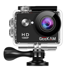"GEEKAM A9 экшн-камера Full HD 1080P 2,"" экран 30 м водонепроницаемый шлем мини видео запись камера s Спортивная камера DVR"
