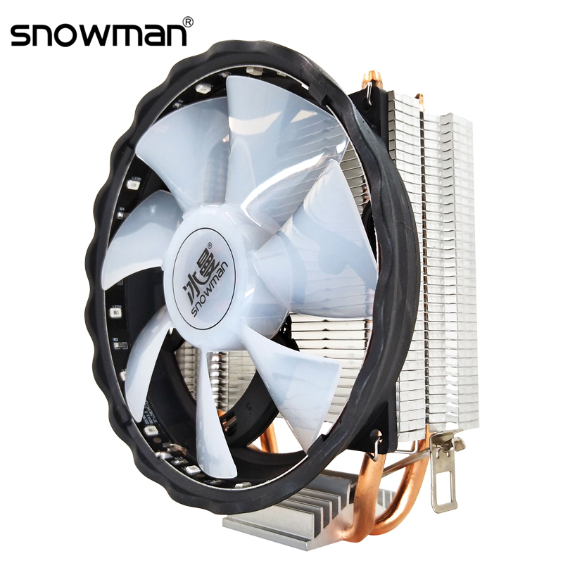 SNOWMAN 2 Heat Pipes CPU Cooler RGB 120mm PWM 4Pin i5 PC quiet for Intel LGA 775 1150 1151 1155 1366 AMD AM2 AM3 CPU Cooling Fan|Fans & Cooling|   - AliExpress