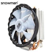 Kardan adam 2 ısı borusu işlemci soğutucusu RGB 120mm PWM 4Pin i5 PC sessiz Intel LGA 775 1150 1151 1155 1366 AMD AM2 AM3 CPU soğutma fanı