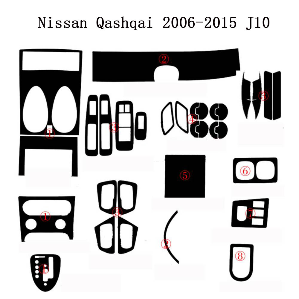 For Nissan Qashqai 2006 2015 J10 Interior Central Control