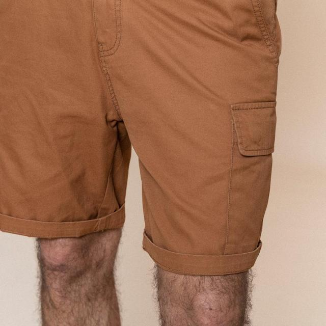 Enzyme Washed Cargo Shorts for summer
