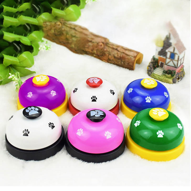 Pet Call Bell Dog Toys IQ Training Dog Cat Feeding Ringer Educational Toy Pets Toys Interactive Bell Eating Food Feeder-2