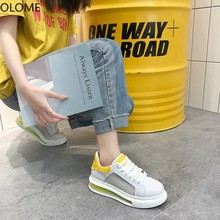 Women Sneakers 2020 Fashion Casual Shoes Woman Comfortable Breathable White Flats Female Platform Chaussure Femme Reflective lucyever spring autumn platform slip on women graffiti casual shoes mixed colors flats comfortable chaussure femme zapatos mujer