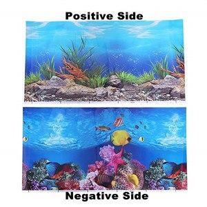 Image 4 - PVC 양면 수족관 배경 포스터 장식 물고기 탱크 벽 Lanscaping 장식 배경 포스터 30/40/50cm (높이)
