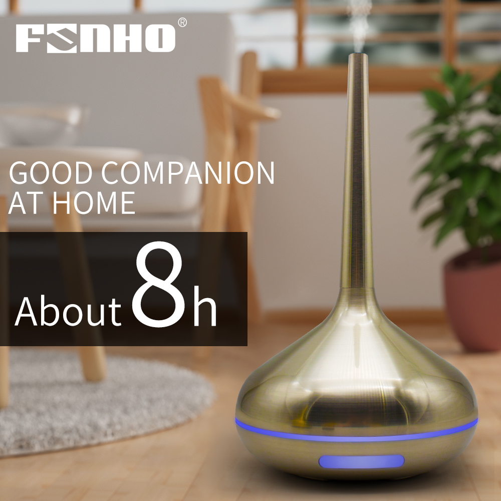 FUNHO Humidifier Ultrasonic Air Aroma Diffuser Purifier Aromatherapy Essential Oil Mist Maker With Night LED Light Lamp For Home