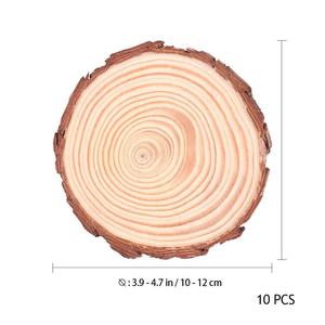 Image 5 - WINOMO 10pcs 10 12 ซม.ธรรมชาติไม้แผ่นเข้าสู่ระบบแผ่นที่ยังไม่เสร็จไม้ธรรมชาติรอบชิ้นวงกลมสำหรับ DIY งานฝีมืองานแต่งงาน Decor