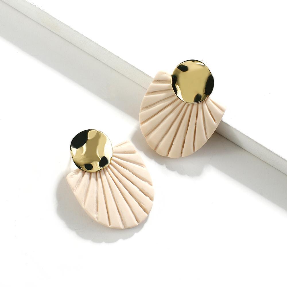Drop Earrings Minimalist Polymer Clay Earrings Bohemian Earrings Clay Earrings Handmade Dangle Earrings Boho Jewelry Jewelry