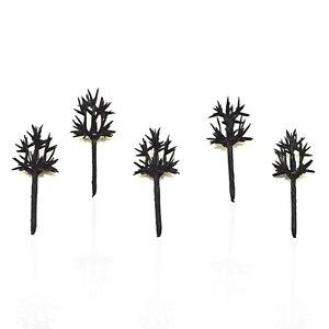 Image 1 - 1000 ピース/ロット 3 センチメートル木トレインセット風景風景モデルツリーアーム用