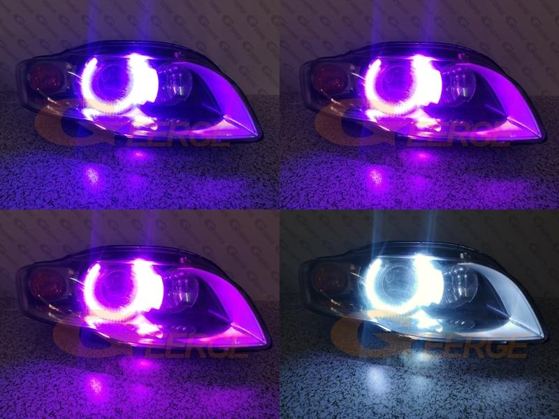 4 Stk//Set RBG Farbwechsel Rautenfoermige LED Rasen Licht LED Sensor Solar K A4I1