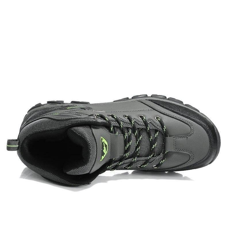 Водонепроницаемые кожаные ботинки на шнуровке; Высококачественная Нескользящая спортивная обувь для охоты и скалолазания; Уличная обувь с высоким верхом; голая Гора